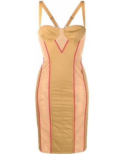 Хлопковое платье - коричневое Burberry