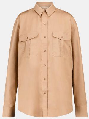 Brązowa koszula bawełniana do pracy Wardrobe.nyc