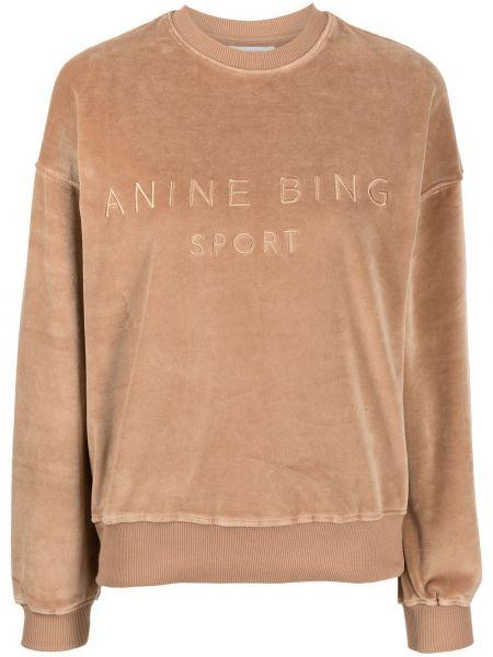 Хлопковый свитшот - коричневый Anine Bing