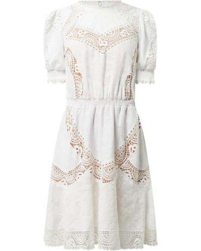 Biała sukienka mini rozkloszowana koronkowa Michael Michael Kors
