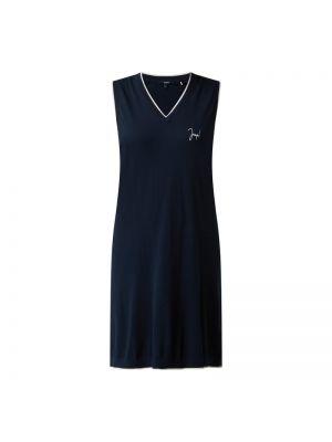 Niebieska sukienka rozkloszowana bawełniana Joop! Bodywear