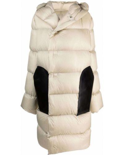 Płaszcz puchowy z kapturem - biały Rick Owens