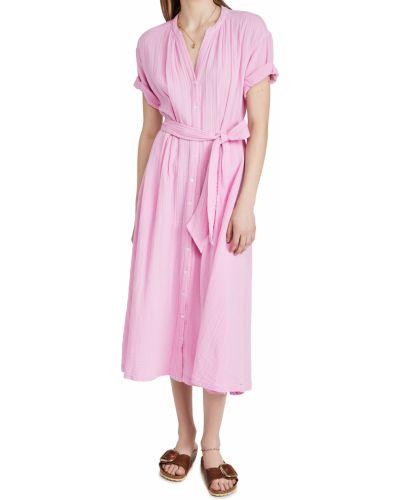 Розовое платье с короткими рукавами стрейч Xírena