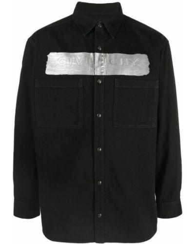Koszula bawełniana z długimi rękawami na co dzień Givenchy