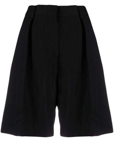 Черные с завышенной талией шорты с карманами Victoria Victoria Beckham