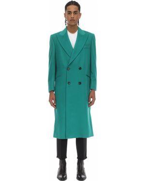 Z kaszmiru zielony płaszcz Casablanca