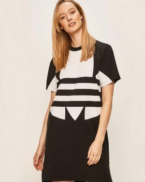 Платье мини повседневное с декольте Adidas Originals