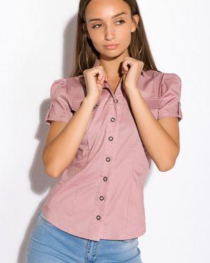 Классическая рубашка с поясом для офиса Time Of Style