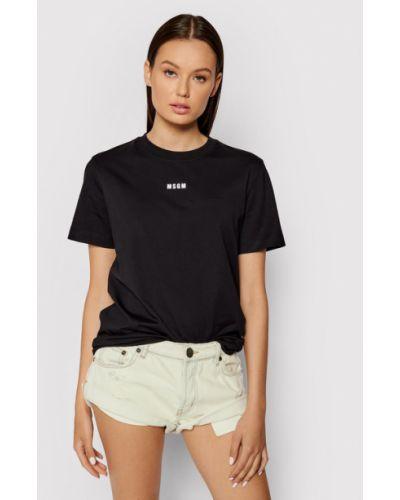 Czarna t-shirt Msgm