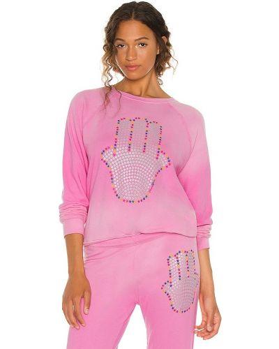 Хлопковый пуловер - розовый Lauren Moshi