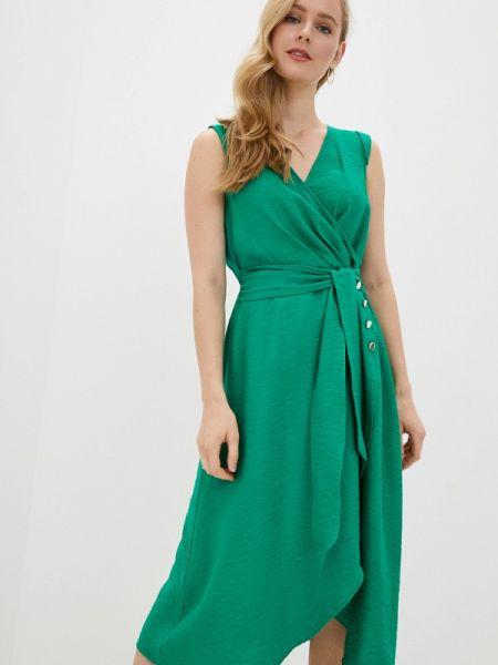 Платье прямое зеленый Naf Naf
