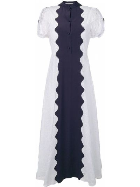 Хлопковое платье миди - белое Valentino