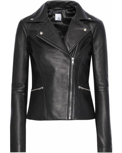 Черная кожаная куртка с подкладкой Iris & Ink