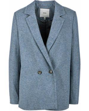Пиджак шерстяной двубортный Ichi