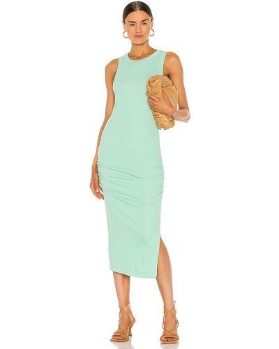 Хлопковое платье миди - зеленое Michael Stars