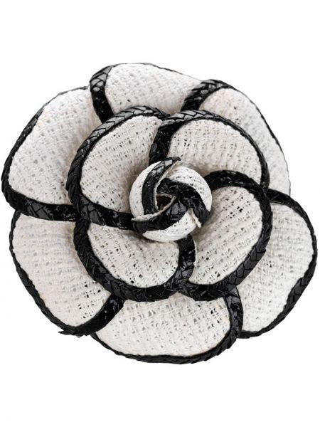 Bawełna włókienniczy czarny broszka Chanel Pre-owned