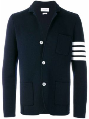 Шерстяной белый пиджак на пуговицах с манжетами Thom Browne