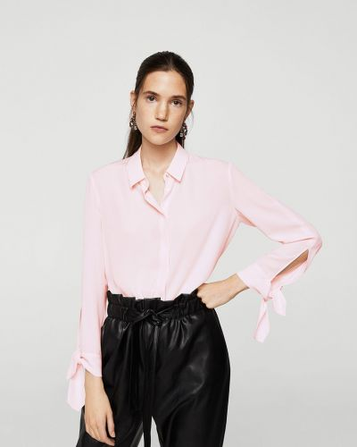 Розовая блузка прямая Mango
