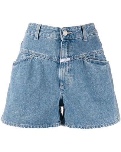 Хлопковые с завышенной талией джинсовые шорты свободного кроя Closed