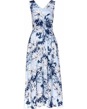 Облегающее платье макси с драпировкой Bonprix