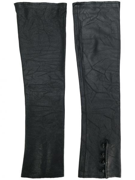 Черные кожаные перчатки на пуговицах Olsthoorn Vanderwilt