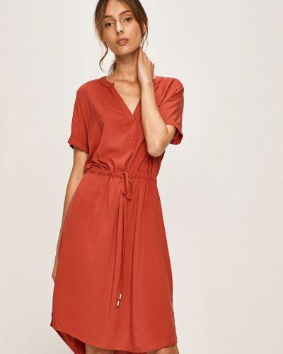 Платье с поясом из вискозы однотонное Jacqueline De Yong