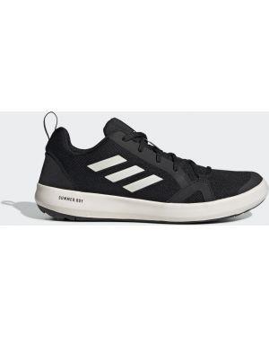Облегченные спортивные черные кроссовки Adidas