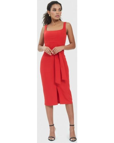 Платье футляр - красное Marco Bonne