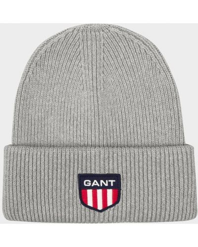 Шапка винтажная - серая Gant