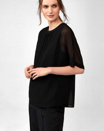Czarna bluzka z siateczką z wiskozy Orsay