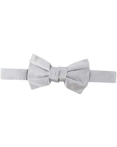 Серебряный шелковый галстук-бабочка с бабочкой Lanvin