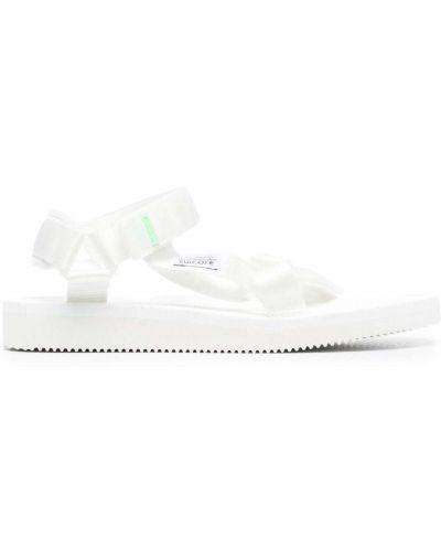 Białe sandały płaska podeszwa Suicoke