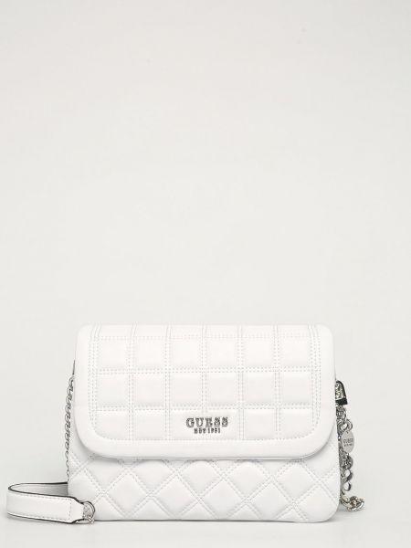 Хлопковая белая сумка через плечо с подкладкой Guess