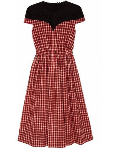 Платье мини миди с вышивкой Fendi