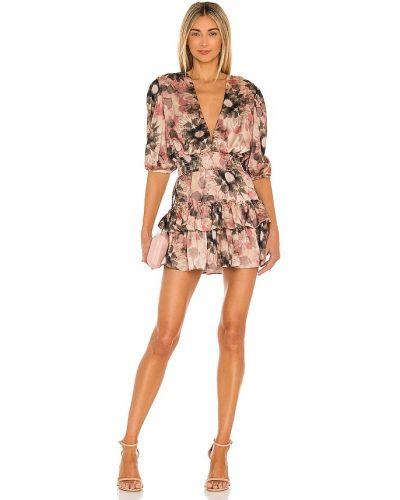 Сатиновое платье с подкладкой на крючках Misa Los Angeles