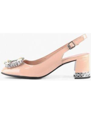 Кожаные туфли с открытой пяткой розовый Sasha Fabiani