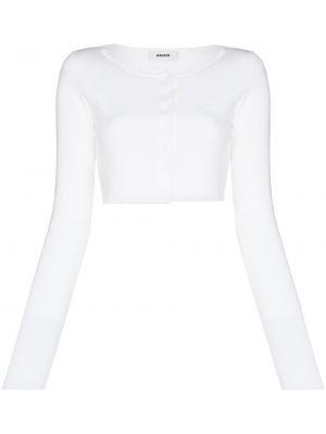 Biały kardigan z długimi rękawami bawełniany Danielle Guizio