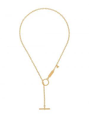 Золотистая желтая цепочка позолоченная квадратная Coup De Coeur