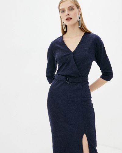 Прямое синее платье Zolla