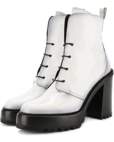 Белые кожаные ботильоны Premiata