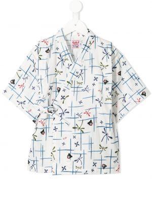 Piżama bawełniana - biała Miki House