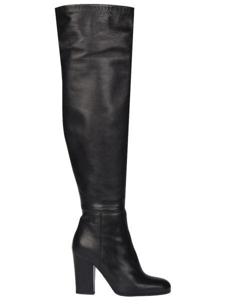 Ботфорты на каблуке кожаные Loriblu