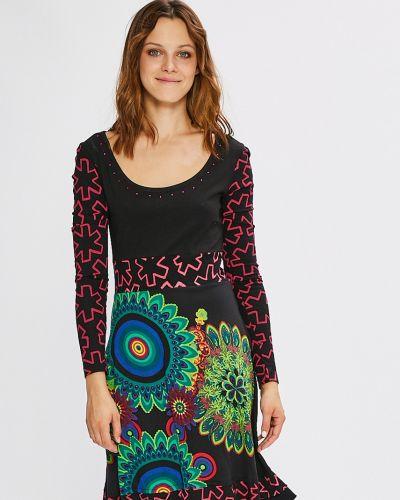 Платье мини расклешенное с вырезом Desigual