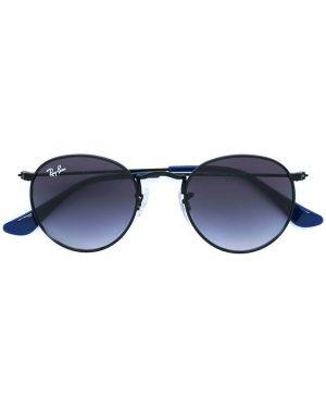 Черные солнцезащитные очки круглые металлические Ray-ban Junior