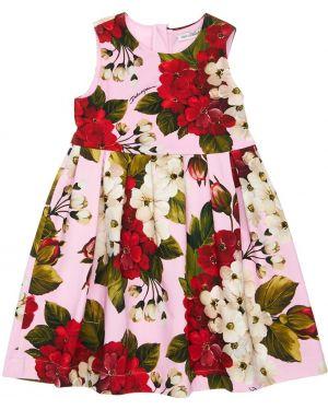 Ажурное платье с декольте Dolce & Gabbana
