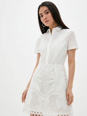 Белое платье Guess Jeans