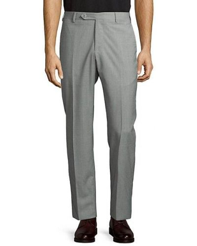 Шерстяные брюки с карманами на пуговицах Zanella