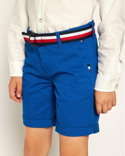 Niebieskie szorty chinosy materiałowe Tommy Hilfiger