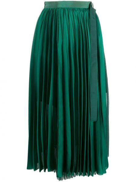 Плиссированная юбка миди с завышенной талией Sacai