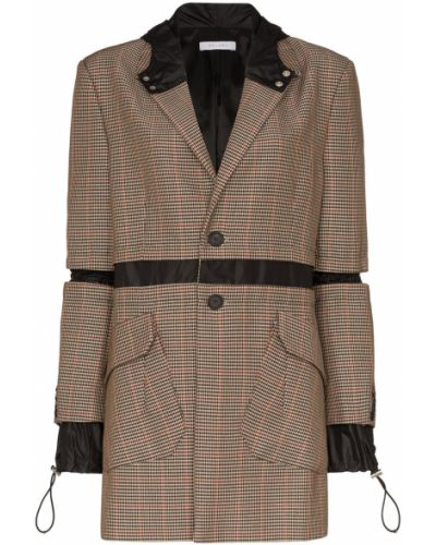 Черный удлиненный пиджак с карманами Delada